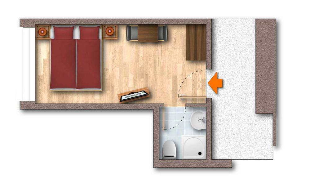 Doppelzimmer Enzian - 1 bis 2 Personen im Waldcafe in Mayrhofen